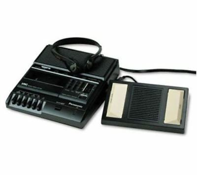 Panasonic RR-830 Dictation Dictator Cassette Tape Transcriber With Foot Pedal