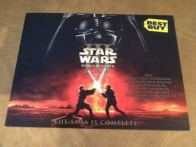Best Buy Revenge Of The Sith Lithograph