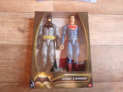 """Batman v Superman"" movie Batman and Superman 12"" Action Figures BNIB Mattel"