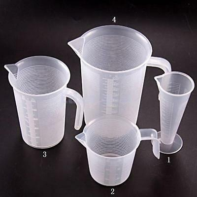 4 Types Scales Plastic Graded Cup Measuring Beaker Container Baking Tool Kitchen