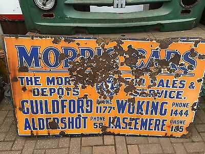 Morris Cars Dealership Garage Sign. Vintage enamel sign