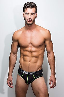 Marco Marco Essential Brief (Black with Neon Yellow Stitching)
