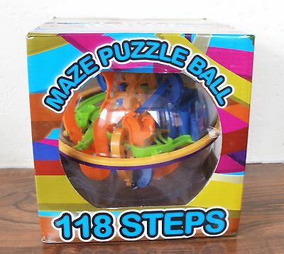 Large Maze Puzzle Ball, Addictive 3D Puzzle Fun Toy With 118 Steps