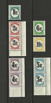 Swa South West Africa ( Namibia ) ~ 1961 Qe Ii Postage Due (Mint Set Mh)