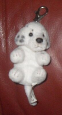 Dalmatian  Dog Puppy Faithful Friend Collectable Soft Toy Keyring