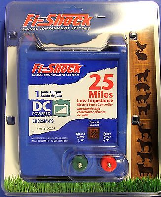 Fi Shock 25 Mile, DC Powered Electric Fence Controller