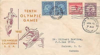 718-19 3c & 5c 10th Olympic Games, First Day Cover Cachet [E176371]