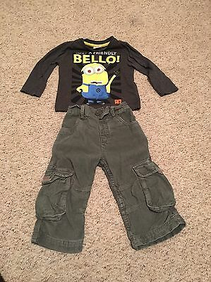 Baby Boys Minion Top And Cord Trousers 12-18 Months