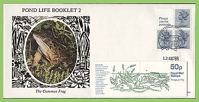 G.B. 1986 Pond Life 2, booklet pane Benham First Day Cover, Windsor