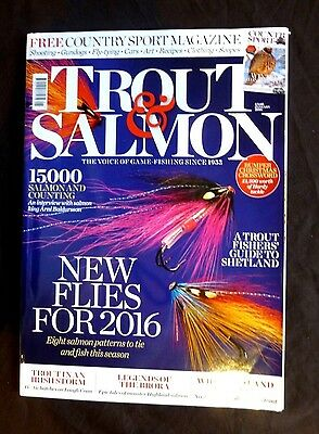 Trout And Salmon, Jan 2016, A Trout Fisher's Guide to Shetland, New Flies for 16