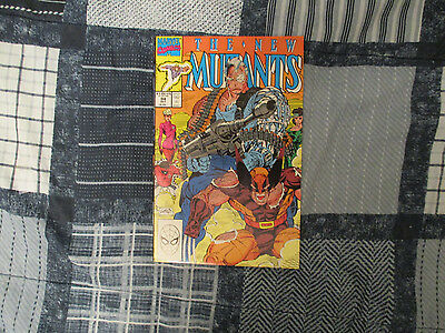 THE NEW MUTANTS #94 (1990) MARVEL COMICS CABLE vs WOLVERINE! ROB LIEFELD ART!