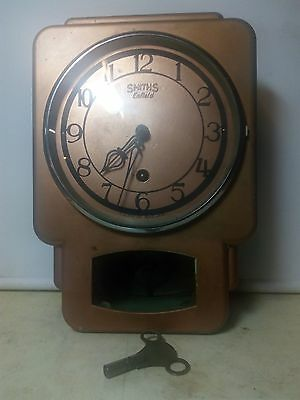 Vintage Smiths Enfield Metal Case Wall Clock.