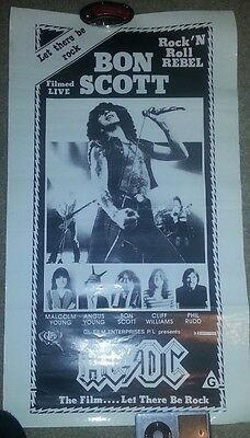 ACDC  New Zealand LET THERE BE ROCK Film poster. VERY RARE Front of house