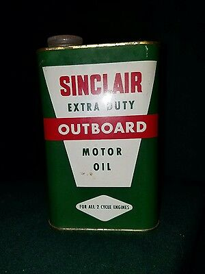 Vintage Sinclair Outboard Motor Oil Full Old 50's 60's Very Good Condition