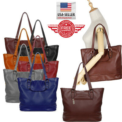 Women Tote Leather Shoulder Bag Handbag Messenger Satchel Crossbody Hobo Purse