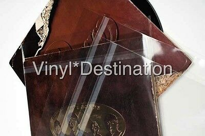 "🔴100 12"" Outer Vinyl Double Record LP Album Covers Blake sleeves with Flap"