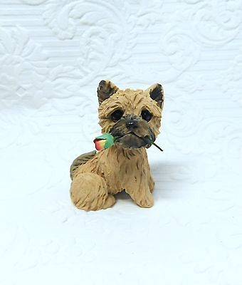 Cairn Terrier Polymer Clay Hand Sculpted collectible by Raquel Torres