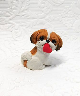 Japanese Chin Polymer Clay Hand Sculpted DOG collectible by Raquel