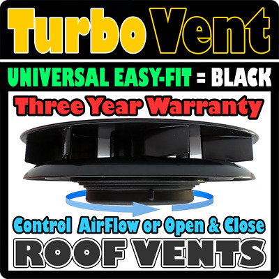 Air Rotary Wind Driven Roof Vent For Vans Trucks Camper Motor Home BLACK Renault