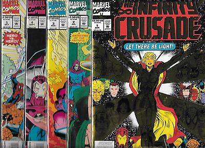 The Infinity Crusade Lot Of 5 - #1 #2 #3 #4 #5 (Nm-) Near Complete Set