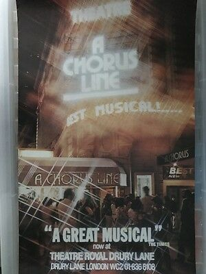 Old Theatre Poster A Chorus Line 1976