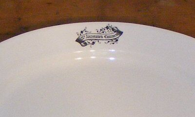 Antique Victorian English Ironstone Pottery Platter St Andrew's Church Canada