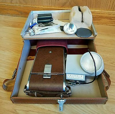 Vintage Polaroid Land Camera Model 95B with Case, Instructions, & Accessories
