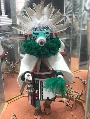 Native American Kachina Doll By Talavai (in Case)