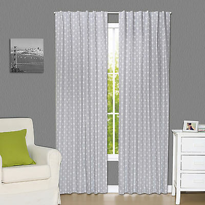 Grey Arrow Print Window Drapery Panels - Set of Two 84 x 42 Inch Panels