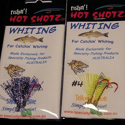 Paternoster Rigs! Hot Shotz Whiting! Oz Seller EX Melbourne! Fast and Free Post!