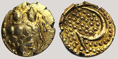 Early India Empire gold coin 7mm Diameter-.3 grams weight