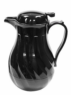 Black Insulated Coffee Jug Beverage Server Coffee Butler Vacuum Jug 1.2L or 1.9L