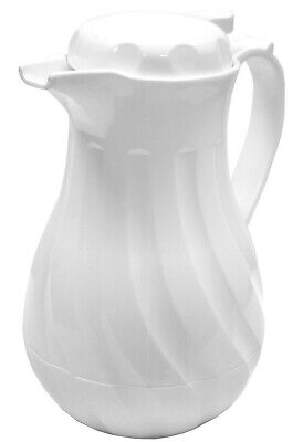 White Insulated Coffee Jug Beverage Server Coffee Butler Vacuum Jug 1.2L or 1.9L