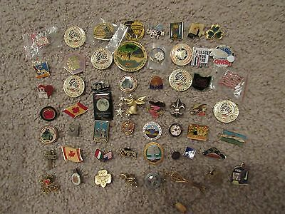 56 Mixed Collectible Pins, some older.