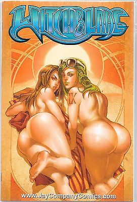 WITCHBLADE # 111 Jay Company Blue Logo Nude Variant Limited to 100 Copies