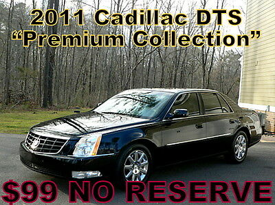 2011 Cadillac DTS Premium Collection    ~$99 NO RESERVE~ 2011 - ONLY 79K! EVERY OPTION! LEATHER! MOONROOF! MUST SEE IT! $99 NO RESERVE!