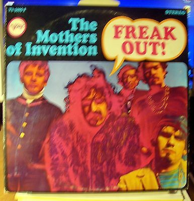 The Mothers Of Invention Freak Out (Frank Zappa) 1968 1st Edition VERVE 2  LP