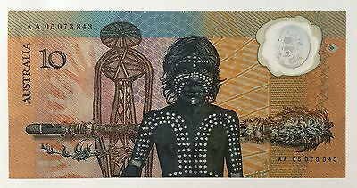 Australian 1988 Commemorative $10 Polymer Note With Sleeve