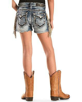 Miss Me Girls' Fringe Cut-Off Denim Shorts - JK5014H194 MK514