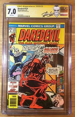 Daredevil 131, CGC 7.0 SS, 1st Bullseye, Mile High II, F/VF, signed by Stan Lee