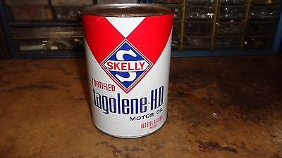 Vintage Gas & Oil Service Station 1 qt Skelly Tagolene HD Motor Oil Can Unopened