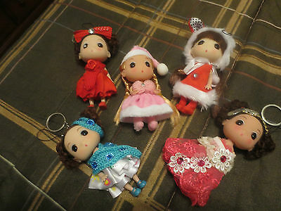 Lot 5 Korea Ddung Doll Keychain