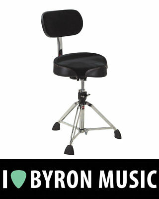 Gibraltar Drum Throne Stool Oversized Moto Seat With Adjustable Backrest 9608MB