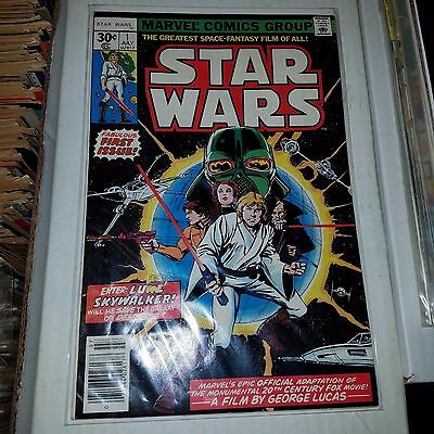 Star Wars #1 (1977, Marvel) - 1st Ongoing Comic, FN Condition