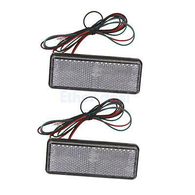 2pcs Motorcycle LED Turn Signal Tail Brake License Plate Stop Lights