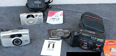 Lot 35mm Point Shoot Cameras Vivitar Pentax Canon