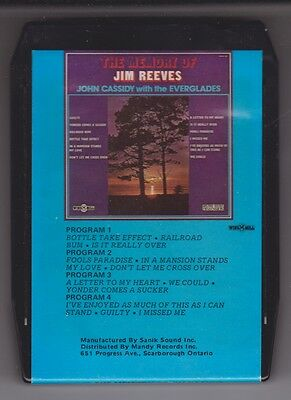 John Cassidy with The Everglades-The Memory of Jim Reeves  (8-Track)
