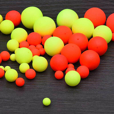 100pcs Fishing Floating Bobbers Drift Ball Foam Indicator Fish Accessories Tool.