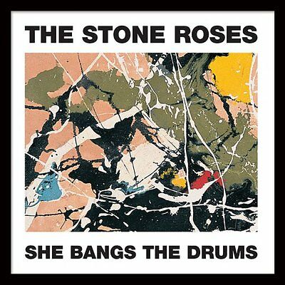 """The Stone Roses - She Bangs the Drums - Framed 12"""" Single Cover Print ACPPR48049"""