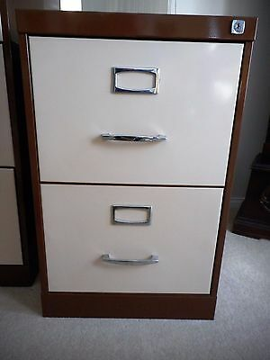 2 Drawer NAMCO Filing Cabinet with keys and files